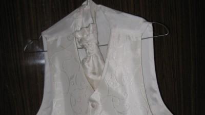 ślubna kamizelka ECRU +| musznik i butonierka