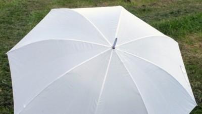 Ślubny parasol biały GIGANT
