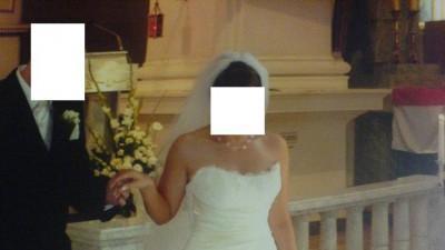 Śmietankowa  Suknia Ślubna PRONOVIAS Barcelona rozm.38