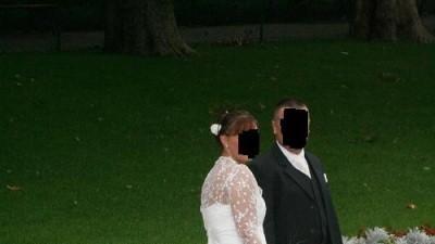śmietankowa suknia ślubna w nietypowym rozmiarze
