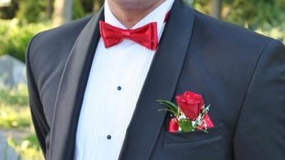 smoking garnitur ślubny komplet z koszula mucha pas OKAZJA