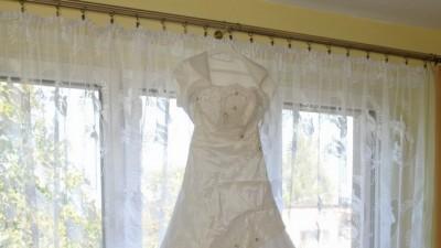 Śnieżnobiała suknia ślubna Inez