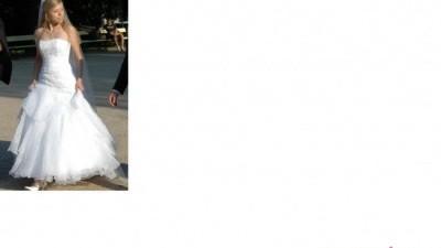 Śnieżnobiała, zwiewna Gina z Mariees de Paris