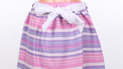 Spódnica w paski z kokardą