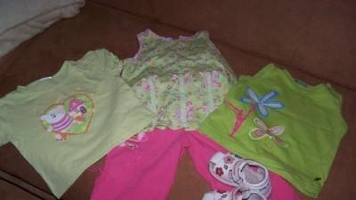 Spodnie+ T-shirt+koszulki+sandałki