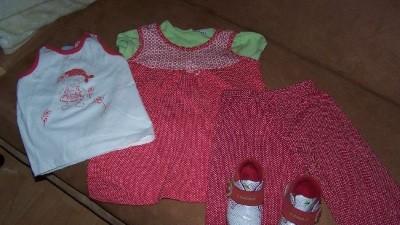 Spodnie+ tunika+koszulka+buciki