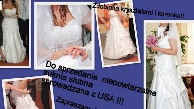 Sprowadzana z USA suknia sluna