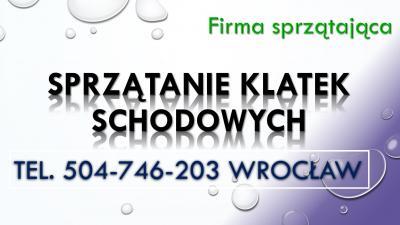 Sprzątanie klatek schodowych, cennik tel. 504-746-203, firma sprzątająca, Wrocław.  Sprzątanie klatki schodowej dla wspólnoty mieszkaniowej, spółdzielni na terenie miasta Wrocław. Mycie okien, czyszczenie ścian, odkurzanie.