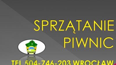 Sprzątanie strychu, garażu, cena tel 504-746-203, Wrocław, wywóz, opróżnieni