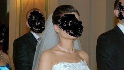 Sprzedam bajkową suknię ślubną wykonaną z tiulu i kamyków svarowski! roz. 36/38