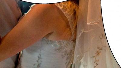sprzedam białą bajeczną suknię ślubną 34-38 rozmiar