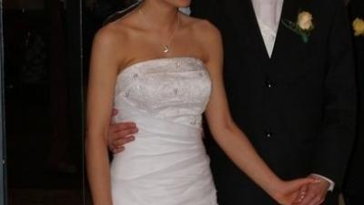 Sprzedam białą suknię Sincerity 3282 rozm. 34-36/160