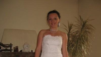 Sprzedam białą suknię ślubną rozm. 38-40