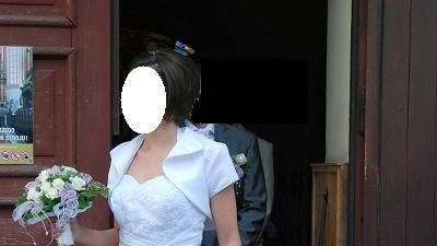 Sprzedam białą suknię ślubną- rozmiar 40