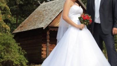 Sprzedam białą suknie ślubną Sincerity 3520