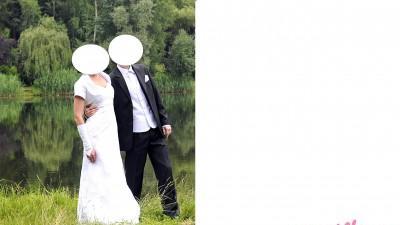 """Sprzedam białą suknię ślubną typu """"rybka"""""""