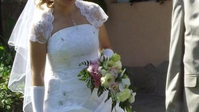 sprzedam białą suknię ślubną w roz. 36/38