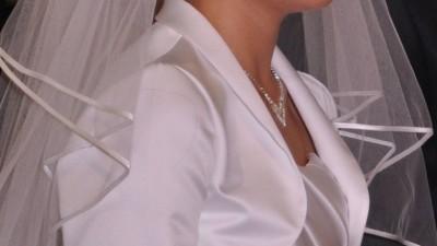 Sprzedam białe bolerko ślubne