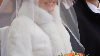 Sprzedam białe futerko (królik + lis), model VISTA, firma Parys