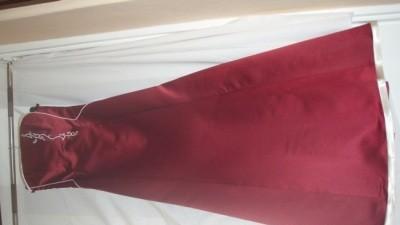 Sprzedam bordową długą suknie wieczorową - 8 5  zł