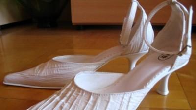 sprzedam buty ślubne, jasne ecru, rozm.36-37