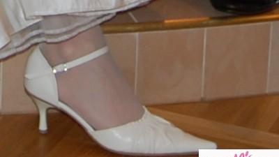 Sprzedam buty ślubne w kolorze ekru