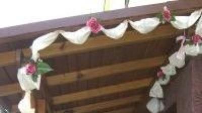 Sprzedam dekoracje kwiatkowa domu przed weselem
