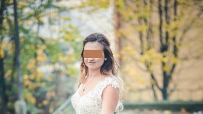 sprzedam dwuczęsciową suknię ślubną ecru