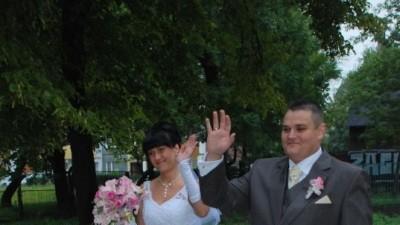 sprzedam efektowną suknie ślubną
