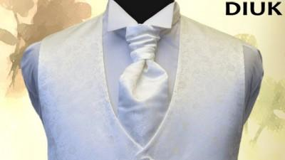 Sprzedam elegancką kamizelkę ślubną + musznik + butonierka