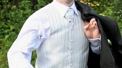 Sprzedam elegancką kamizelkę z musznikiem