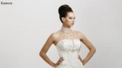sprzedam elegancką suknię ślubną w kolorze ECRU marki Sposabella rozmiar 40