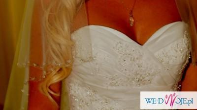 Sprzedam hiszpańską suknię ślubną z trenem Atelier Diagonal 1843