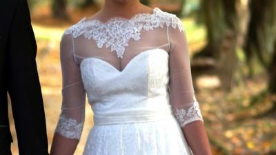 Sprzedam koronkową suknie ślubną :)