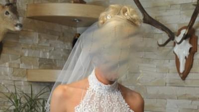 Sprzedam koronkową suknię ślubną rybkę Carla Monte Donna