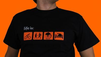 Sprzedam koszulkę Life Is: ride, dance, fuck, drink