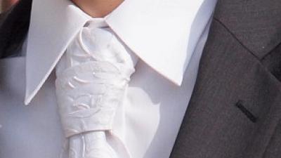 Sprzedam krawat ślubny kaskadowy