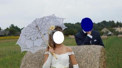 Sprzedam niepowtarzalną suknię ślubną z woalką i stroikiem!