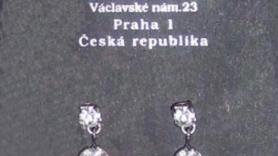 sprzedam oryginalne czeskie kolczyki slubne