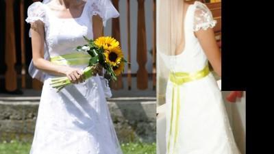 Sprzedam piękną, białą suknię ślubną