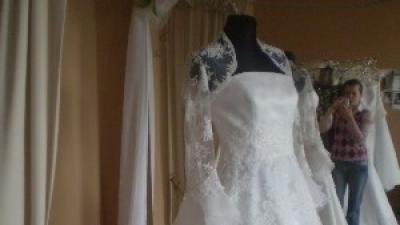 """Sprzedam piękną, białą suknię ślubną """"Ramona"""""""