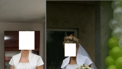Sprzedam piekną francuską suknię ślubną