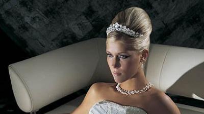 Sprzedam piękną suknię COSMOBELLA nr  7187, ŚNIEŻNO BIAŁA ( kolekcja 2006 ),