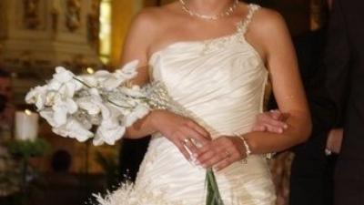 Sprzedam piękną suknię ślubna ecru