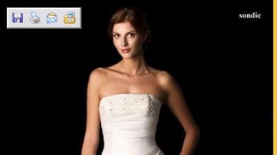 Sprzedam piękną suknie ślubną herm's sondic