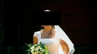 sprzedam piękną suknię ślubną w kolorze ecru!