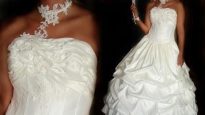 Sprzedam piękną suknię ślubną w kolorze ecru z kolekcji Agora.Dodatki gratis!!!