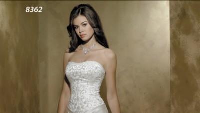 sprzedam pięknie zdobioną suknię ślubną