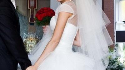 Sprzedam przepiękną tiulową suknię ślubną 34/36