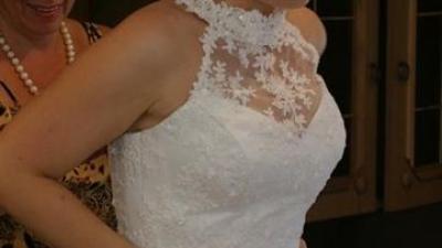 SPRZEDAM: Prześliczna śnieżno-biała suknia ślubna